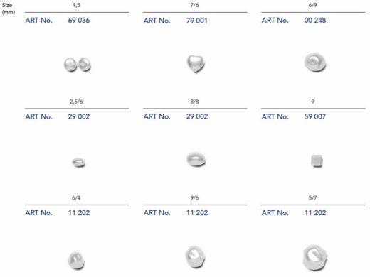 1.1-Perły-kształty | Perły szklane