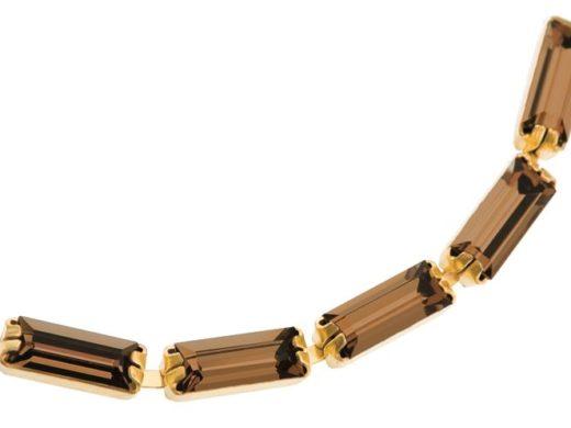 Cup_Chains_Baguette_Capri_Gold | kryształ w metalu do naszywania