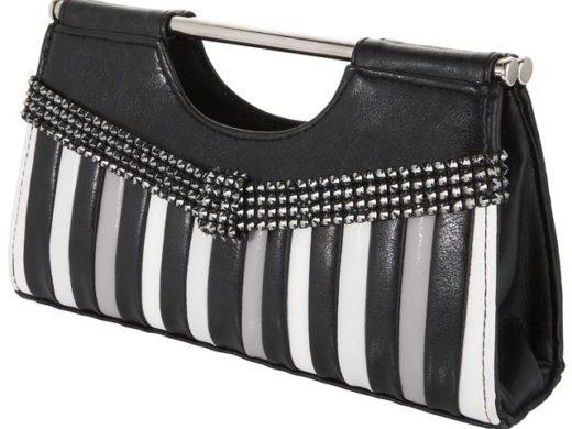 Handbag_with_spike_banding | kryształ w metalu do naszywania