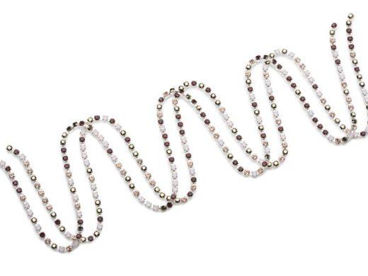 Multicolour_Chains_Blush_2 | kryształ w metalu do naszywania