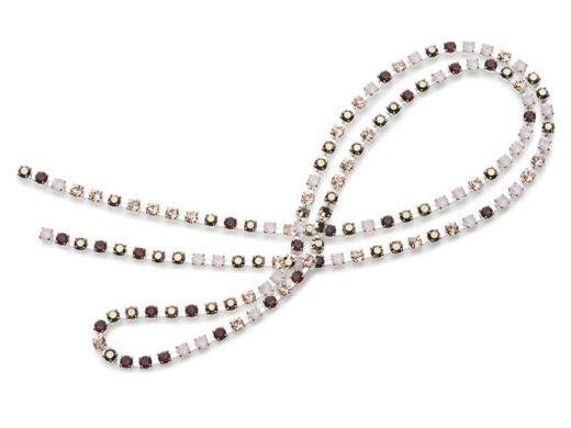 Multicolour_Chains_Blush_5 | kryształ w metalu do naszywania