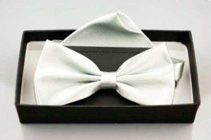 Biała muszka ślubna | biała muszka ślubna