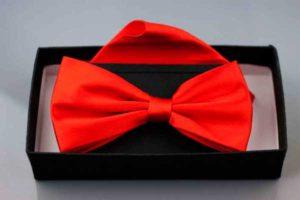 Ostro czerwona muszka ślubna | ostro czerwona muszka ślubna