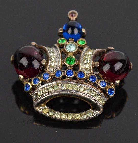 broszka Crown Trifari