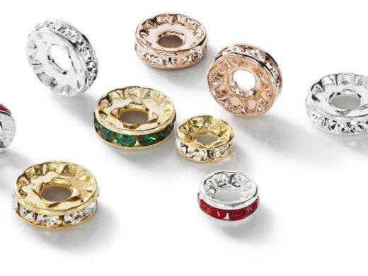 Guziki kryształowe rondelki