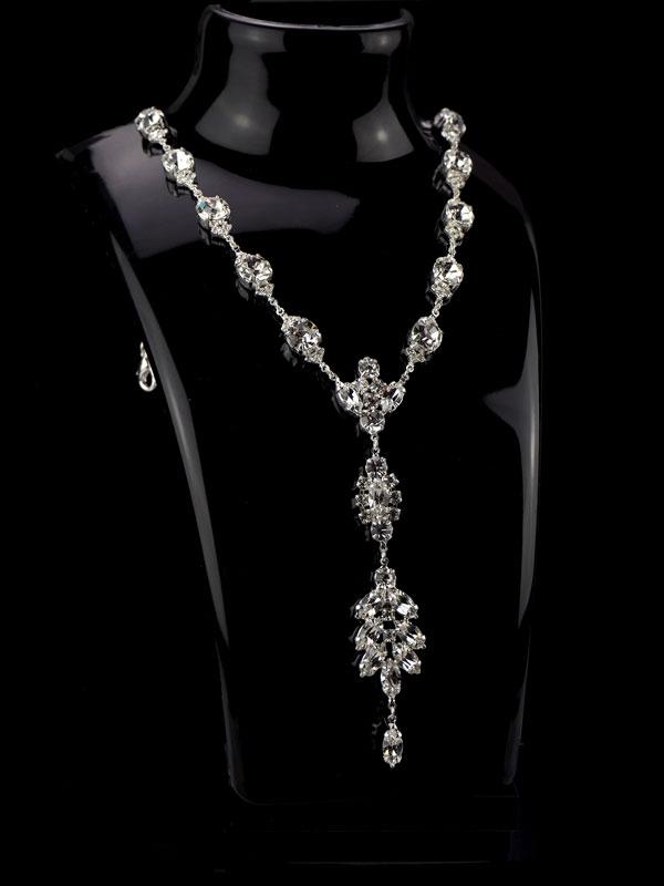 biżuteria ślubna naszyjnik kryształowy ślubny