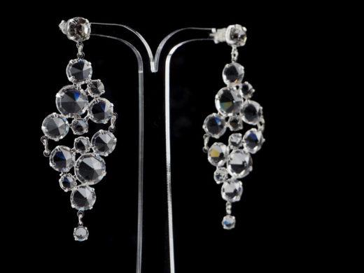 Biżuteria ślubna duże kolczyki kryształowe