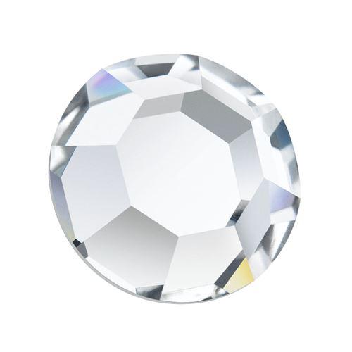 Dżet srebrny kryształowy hot fix