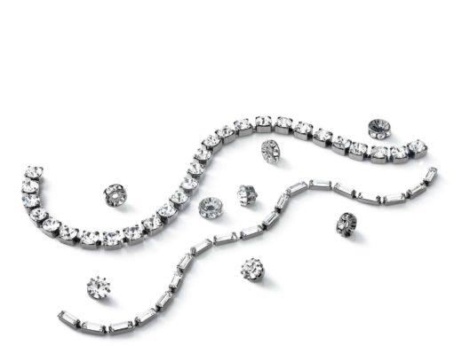 łańcuch strasowy i kryształowe elementy do produkcji biżuterii | Łańcuch strassowy i kryształowe elementy
