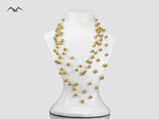 Biżuteria-z-koralików-złota-plecionka